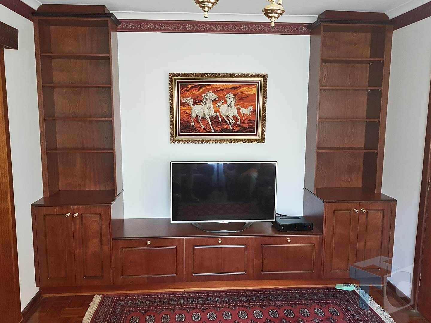 Built in Cabinet TV Room asian indian style