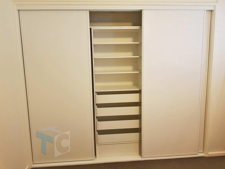 wardrobe built-in white storage 14